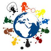 Niños alrededor del mundo — Foto de Stock