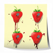 Strawberry design — Stockfoto