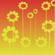 Flowers background, clip art — Stock Photo