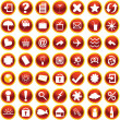 Orange icons for web — Stock Photo