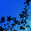 Flowers silhouettes background — Stock Photo