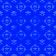 Blue pattern with floral decorations — Lizenzfreies Foto