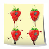 Strawberry design — Stock Photo