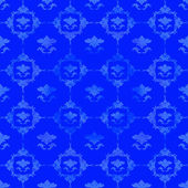 Blue pattern with floral decorations — Stock Photo