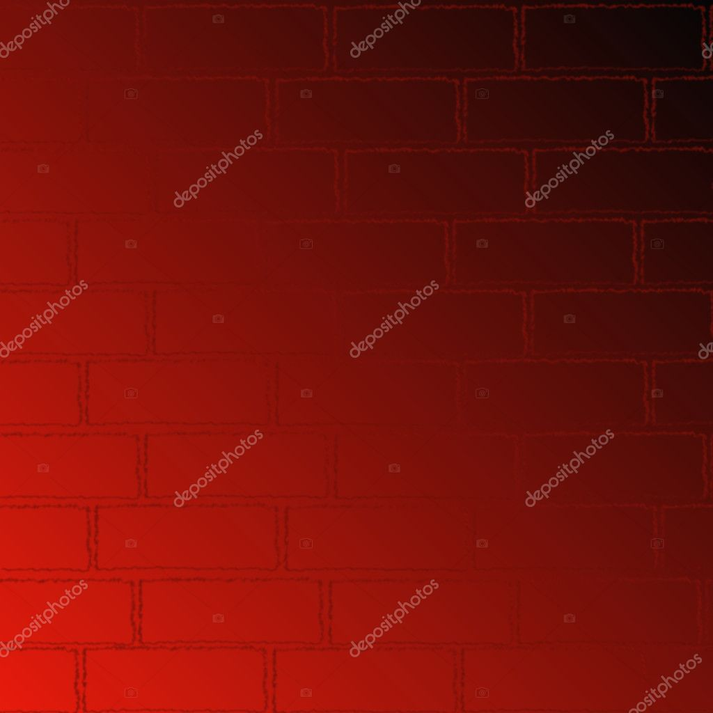 Realistic red bricks wall texture, pattern — Stock Photo #3515096