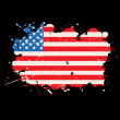 Stock Photo: USgrunge flag
