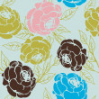 Stock Photo: Roses pattern