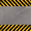 Costruction warning stripes — Stock Photo