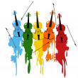 Violins background — Stock Photo #3555089