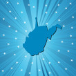 Blue West Virginia map — Lizenzfreies Foto