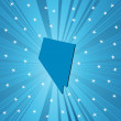 Stock Photo: Blue Nevadmap