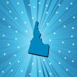 Blue Idaho map — Stock Photo