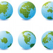 Earth globe icons — Stock Photo