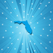 Stock Photo: Blue map of Florida