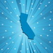 Blue Californimap — Stock Photo #3555182