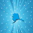 Blue map of Alaska — Stockfoto