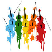 Violins background — Stock Photo