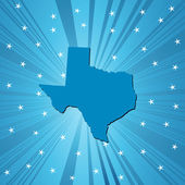 Blue Texas map — Stock Photo