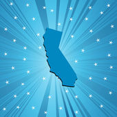 Blue California map — Stock Photo