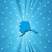 Blue map of Alaska — Stock Photo