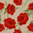Stock Photo: Seamless roses