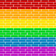 Rainbow wall - Stock Photo