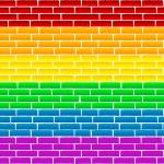 Rainbow wall — Stock Photo #3574944
