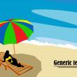 Lounge on the beach — Lizenzfreies Foto
