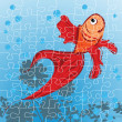 Stock Photo: Red fish puzzle