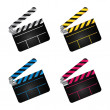 Movie clapper boards - Stock Photo