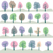 Seamless tree — Stock Photo