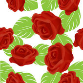 Red rose pattern — Stock Photo