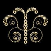 Golden gears design — Stock Photo