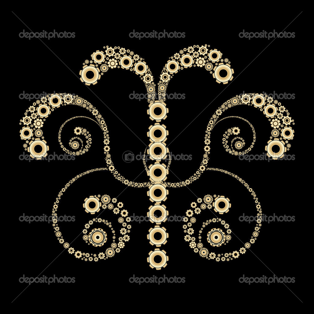 Golden gears design — Stock Photo #3607946