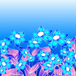 Blue floral composition — Stock Photo