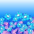 Blue floral composition — Stock Photo