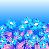Blue floral composition — 图库照片