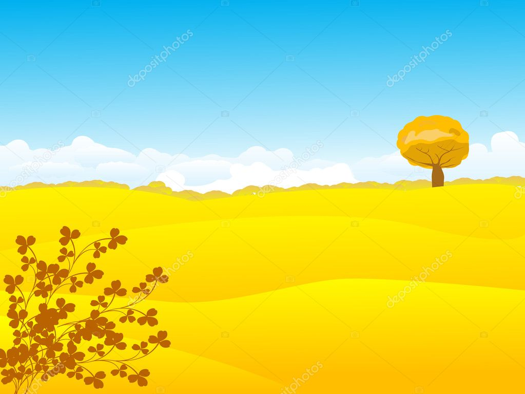 Beautiful autumn landscape — Stock Photo #3661364