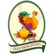 Stock Photo: Thanksgiving day sticker