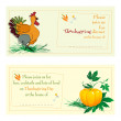 Thanksgiving day cards — Stock Photo