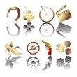 Golden icons — Stock Photo