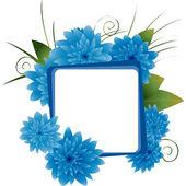 Blue flowers pattern — Stock Photo