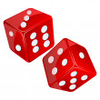 Stock Photo: Red dices