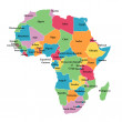 Editable map of Africa — Stock Photo