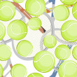 Tennis balls pattern — Stock Photo #3828598