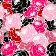 Stock Photo: Pink roses pattern