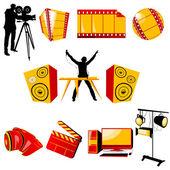 视频和音乐图标 — 图库照片