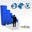 Stock Photo: World biz