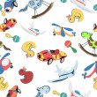 Toys pattern — Stock Photo