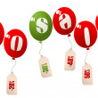 On sale balloons — Stock Photo